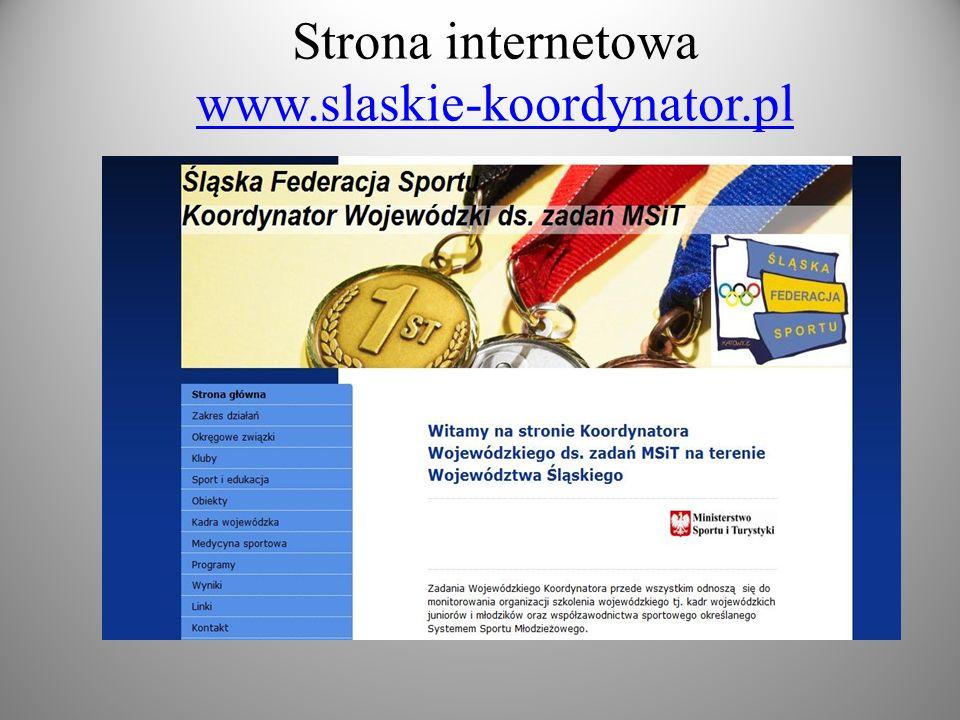 Strona internetowa www.slaskie-koordynator.pl