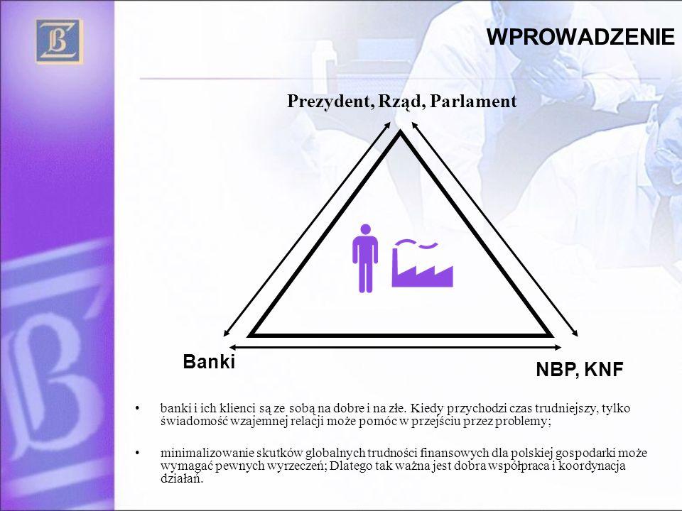 WPROWADZENIE Prezydent, Rząd, Parlament Banki NBP, KNF