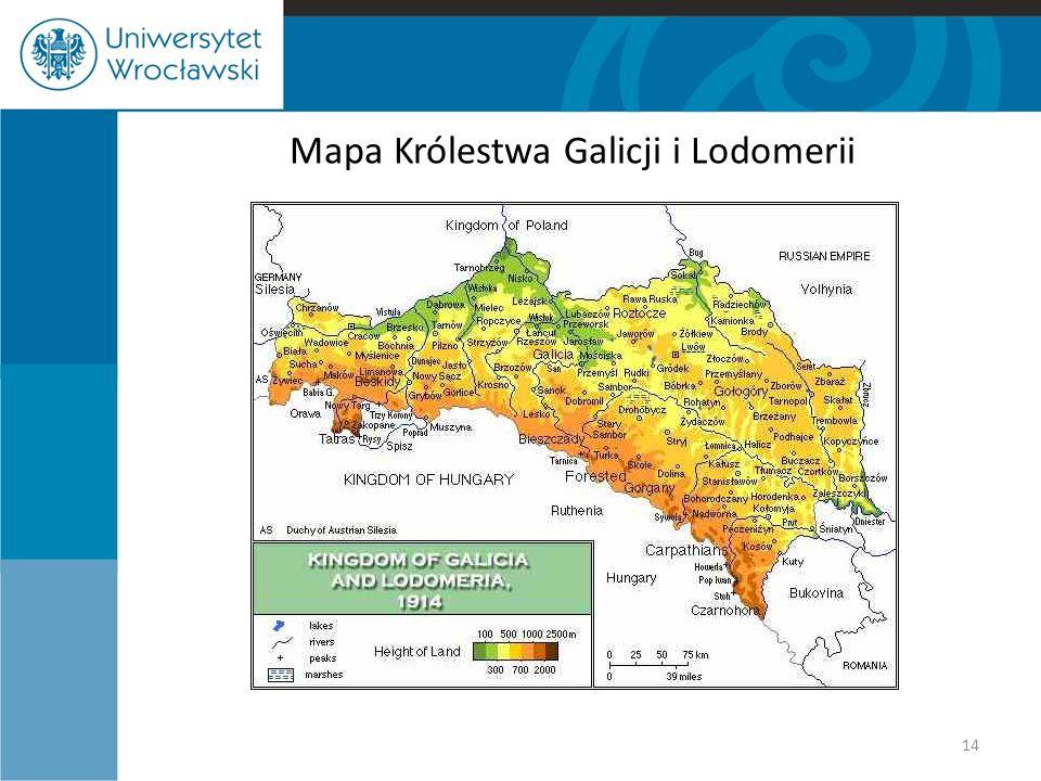 Mapa Królestwa Galicji i Lodomerii