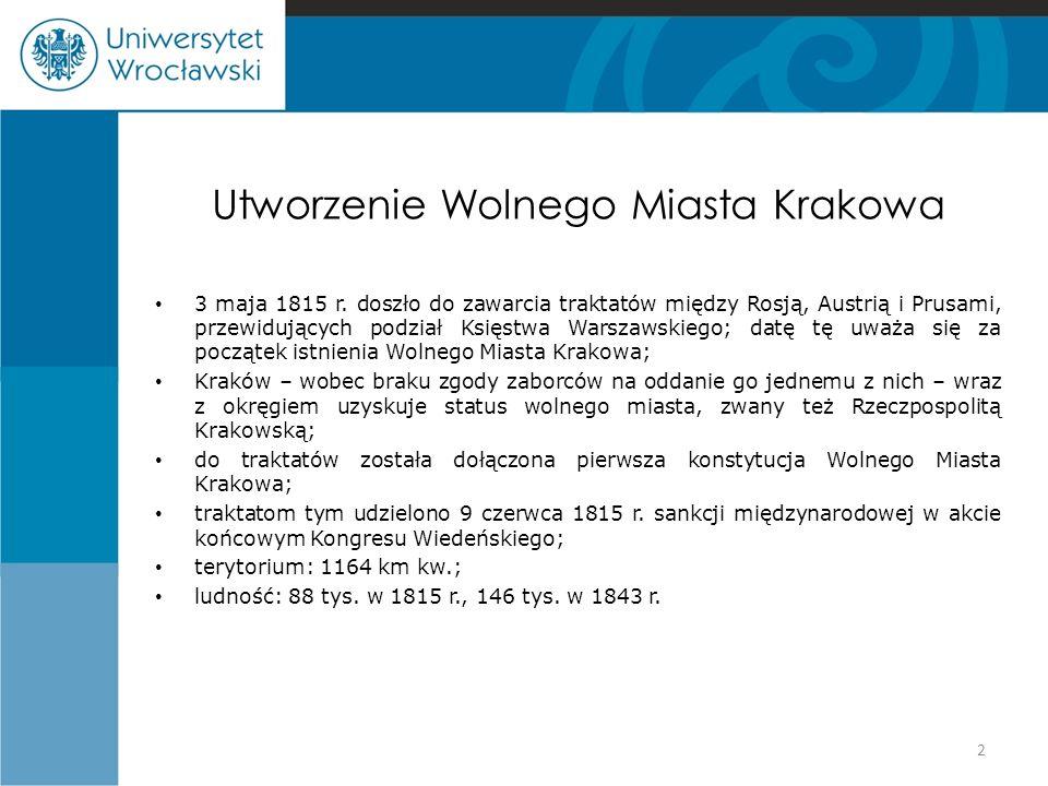 Utworzenie Wolnego Miasta Krakowa