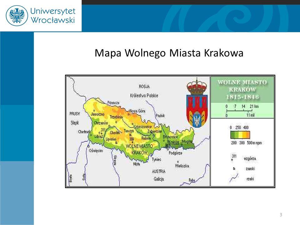 Mapa Wolnego Miasta Krakowa
