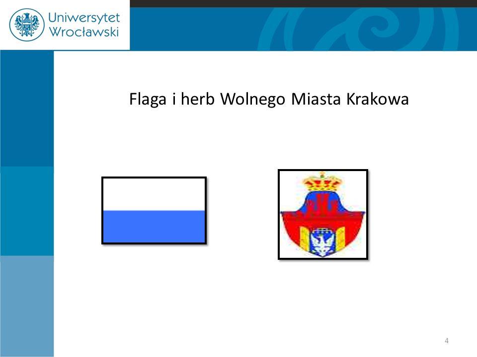 Flaga i herb Wolnego Miasta Krakowa