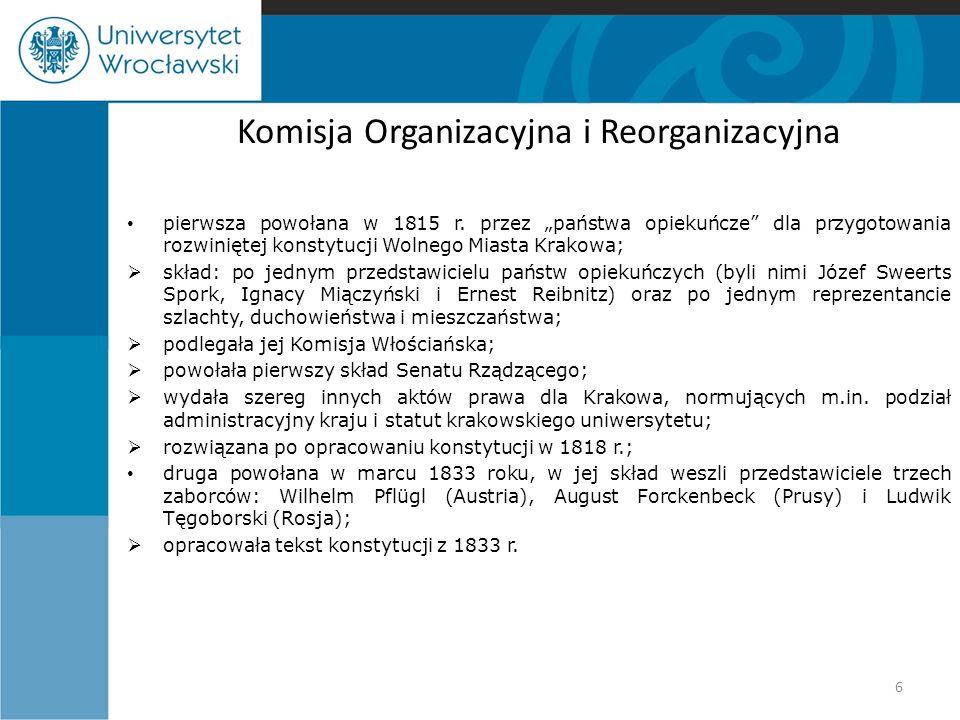 Komisja Organizacyjna i Reorganizacyjna
