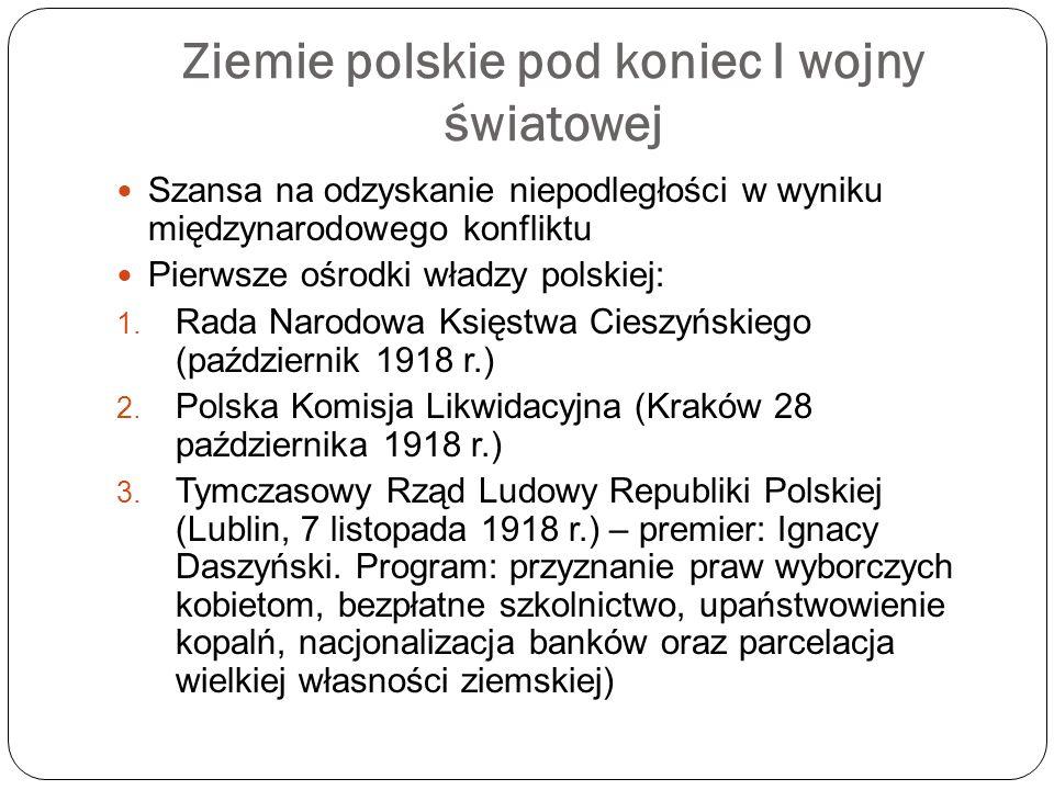 Ziemie polskie pod koniec I wojny światowej