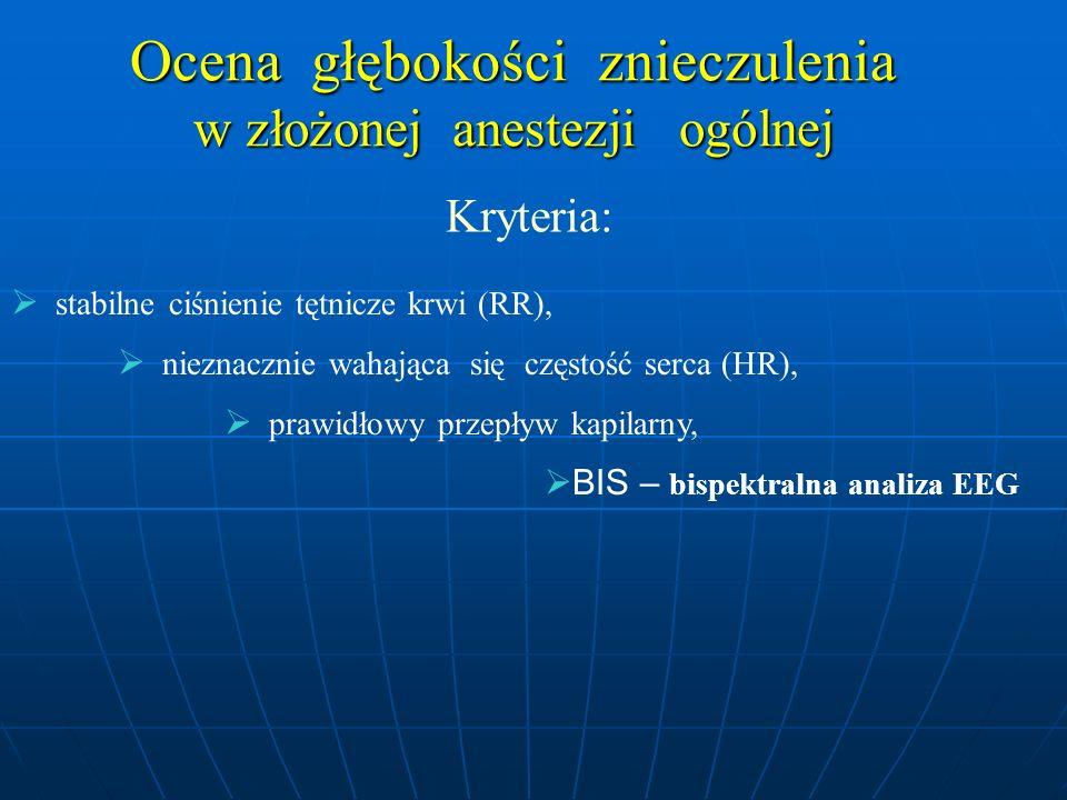 Ocena głębokości znieczulenia w złożonej anestezji ogólnej