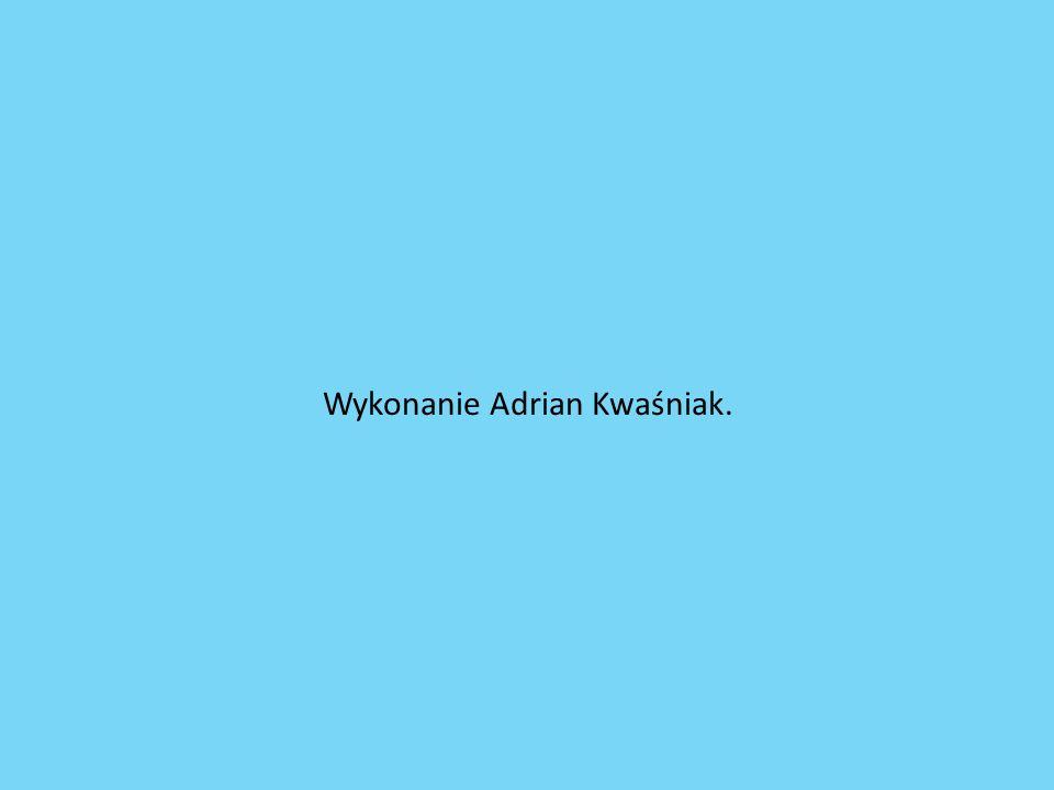 Wykonanie Adrian Kwaśniak.