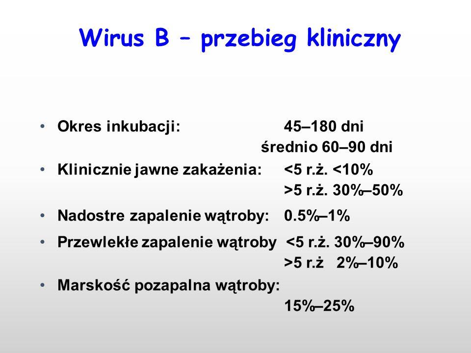 Wirus B – przebieg kliniczny