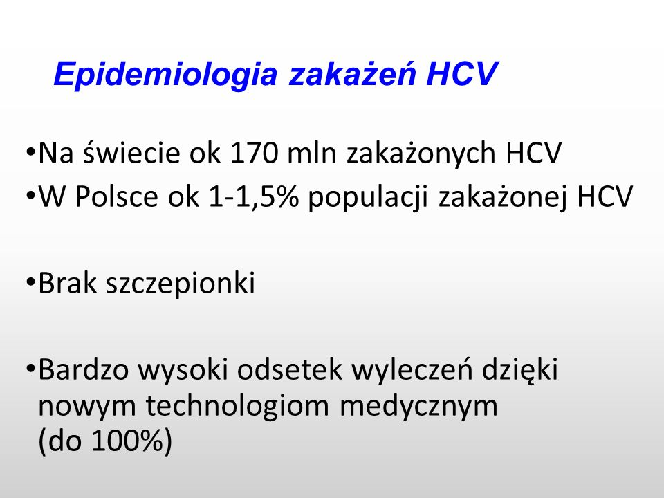 Epidemiologia zakażeń HCV