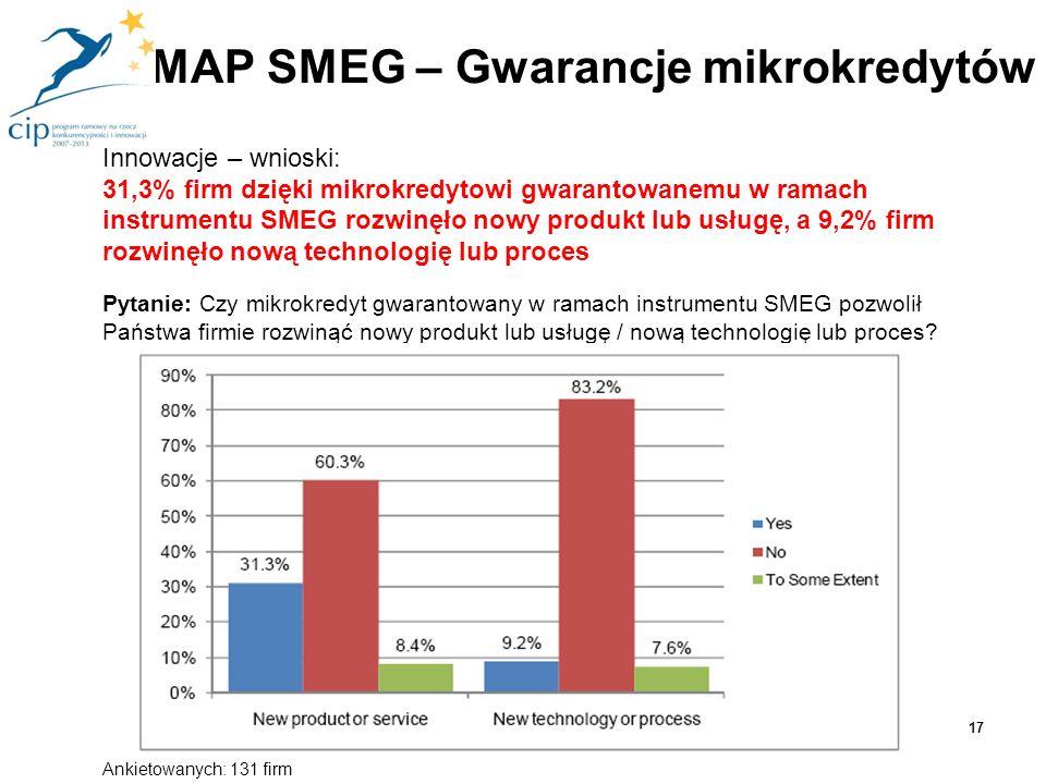 MAP SMEG – Gwarancje mikrokredytów