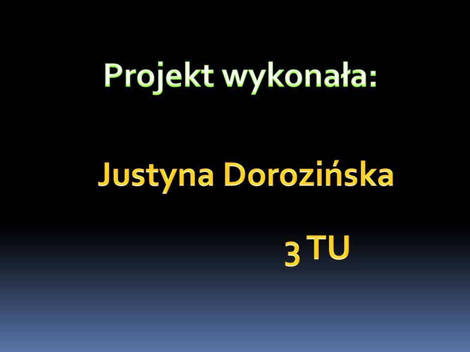 Projekt wykonała: Justyna Dorozińska 3 TU