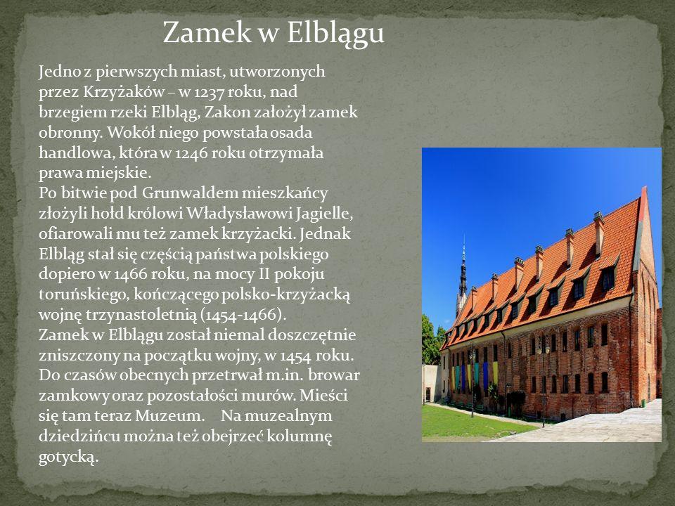 Zamek w Elblągu