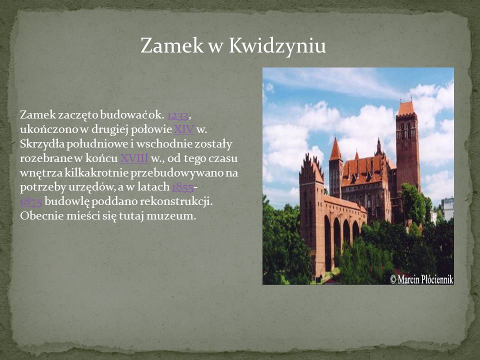 Zamek w Kwidzyniu