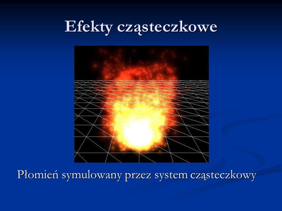 Efekty cząsteczkowe Płomień symulowany przez system cząsteczkowy