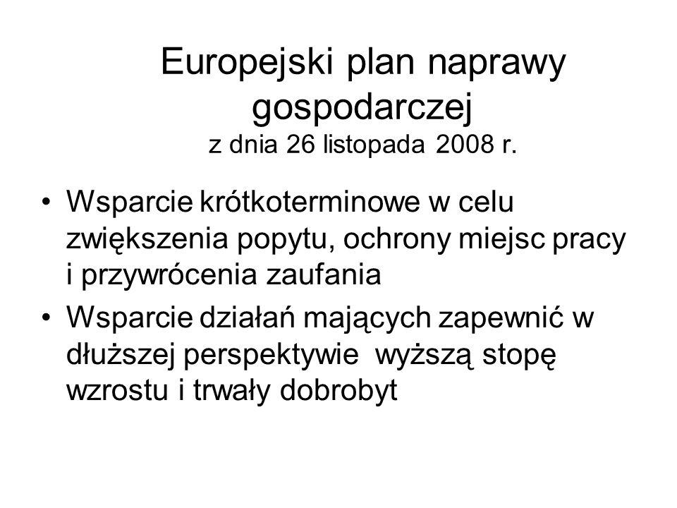 Europejski plan naprawy gospodarczej z dnia 26 listopada 2008 r.