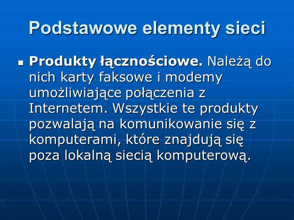 Podstawowe elementy sieci