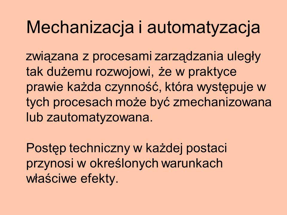 Mechanizacja i automatyzacja