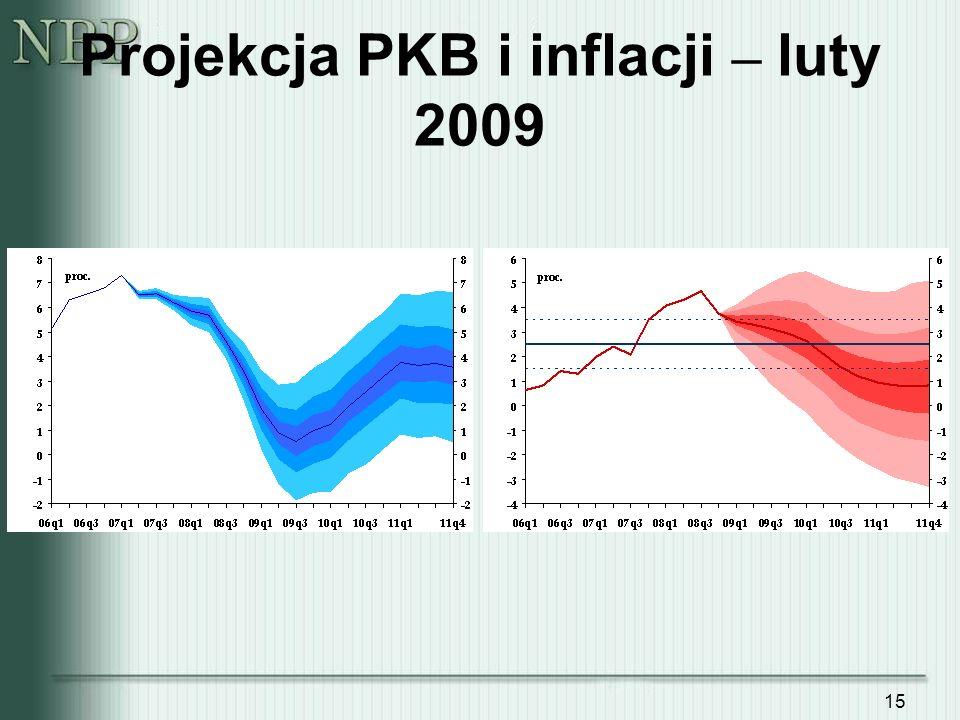 Projekcja PKB i inflacji – luty 2009