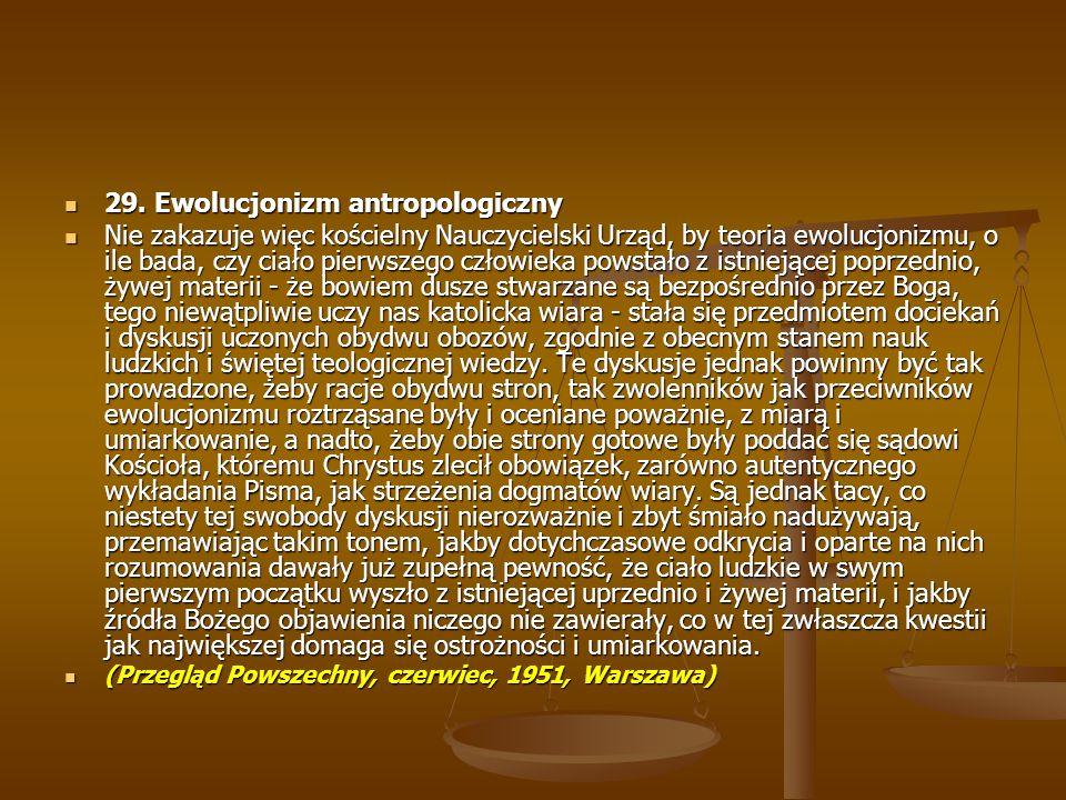 29. Ewolucjonizm antropologiczny