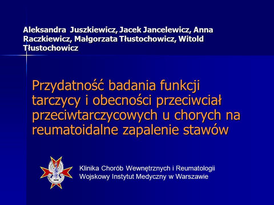 Aleksandra Juszkiewicz, Jacek Jancelewicz, Anna Raczkiewicz, Małgorzata Tłustochowicz, Witold Tłustochowicz