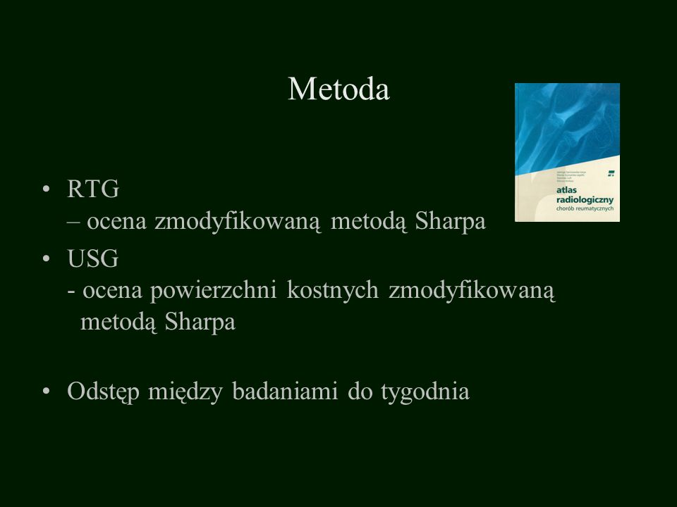 Metoda RTG – ocena zmodyfikowaną metodą Sharpa