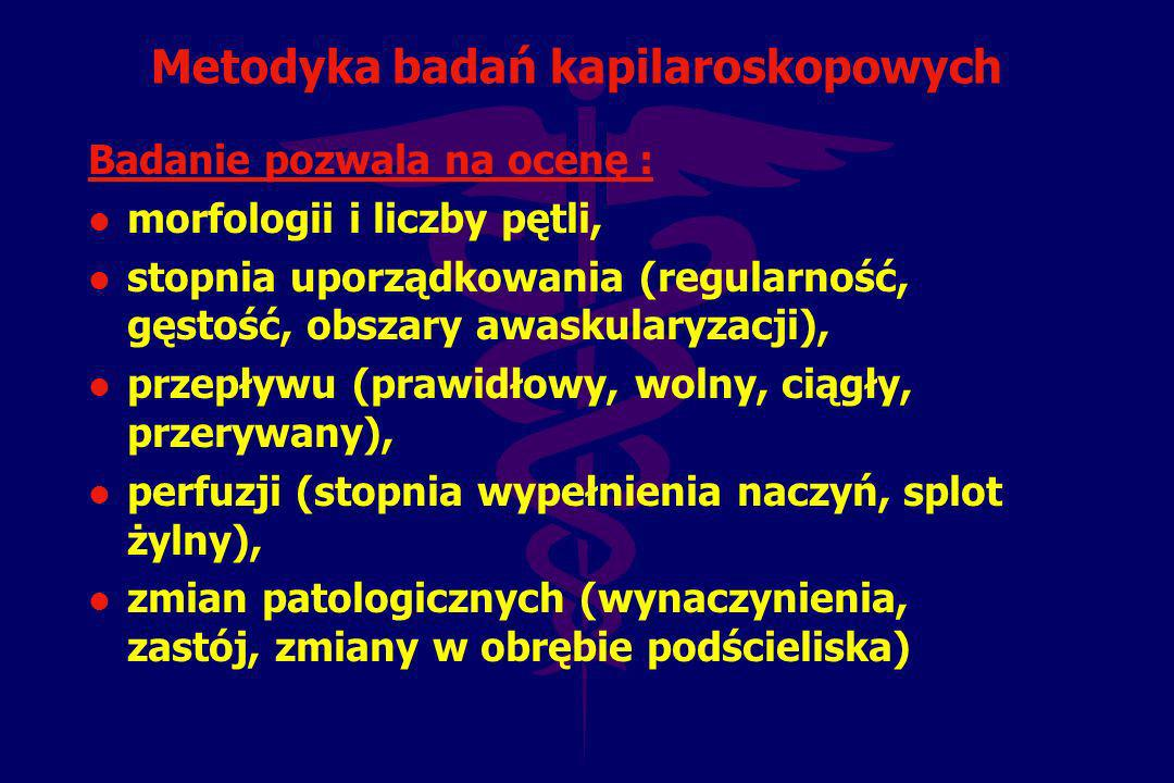 Metodyka badań kapilaroskopowych