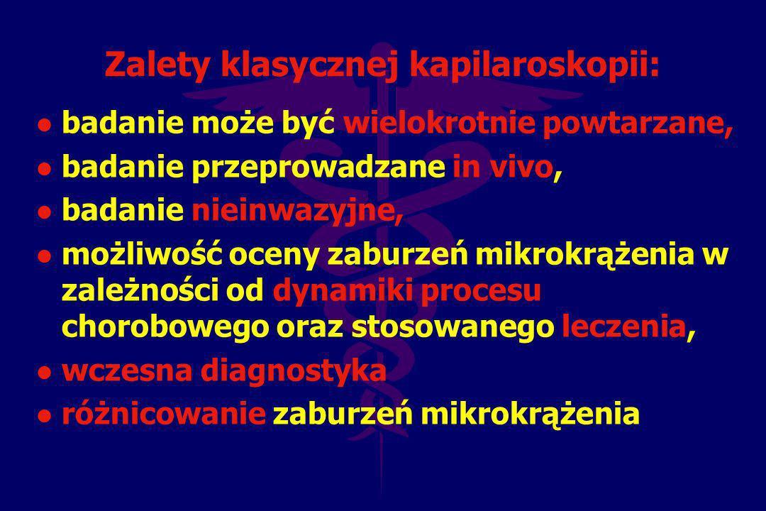 Zalety klasycznej kapilaroskopii: