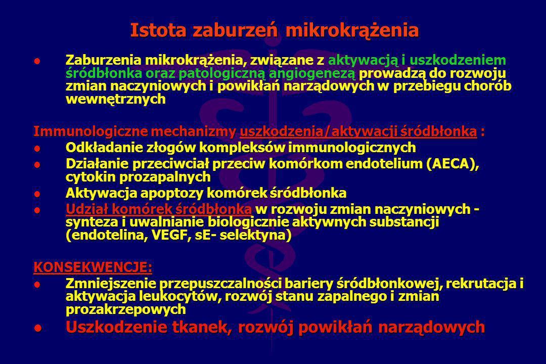 Istota zaburzeń mikrokrążenia