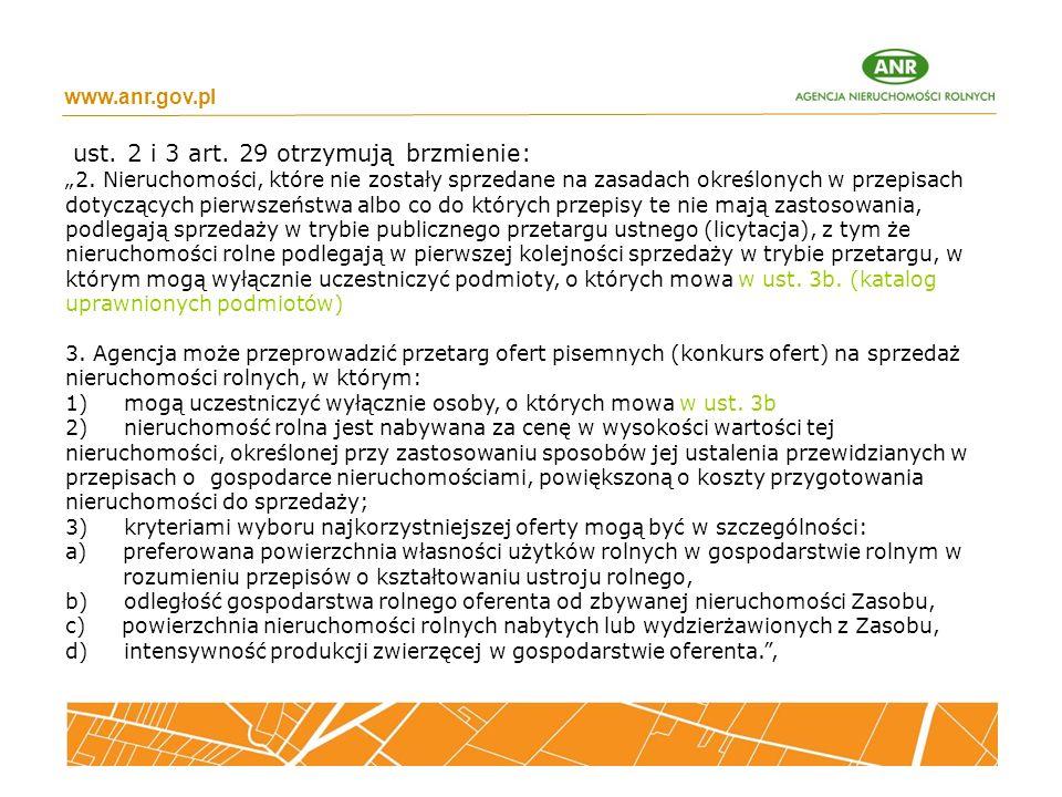 ust. 2 i 3 art. 29 otrzymują brzmienie:
