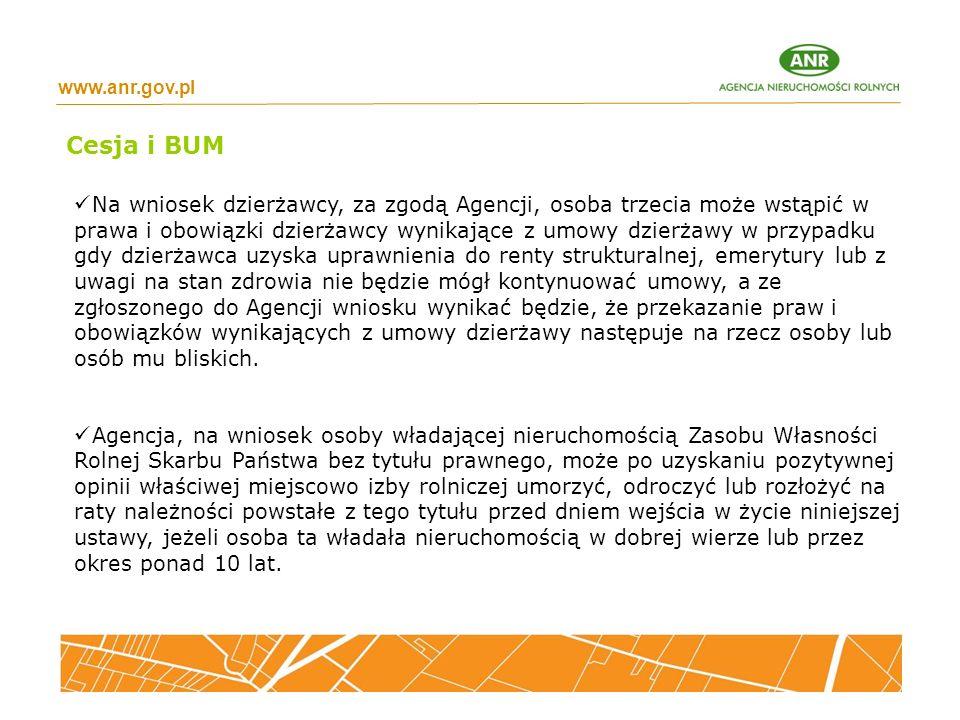 www.anr.gov.pl Cesja i BUM.