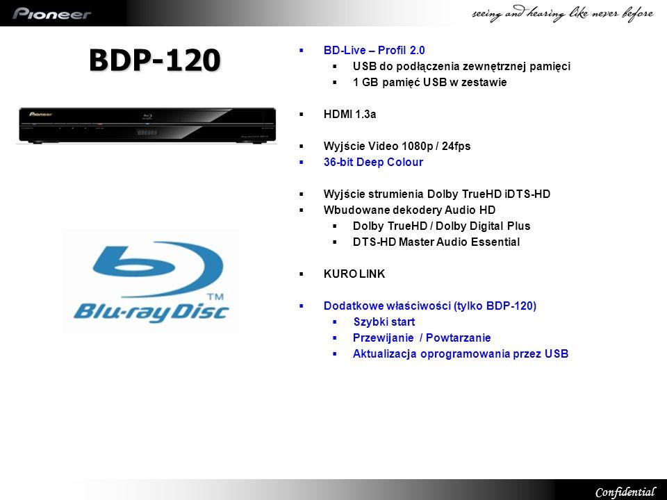 BDP-120 6 BD-Live – Profil 2.0 USB do podłączenia zewnętrznej pamięci