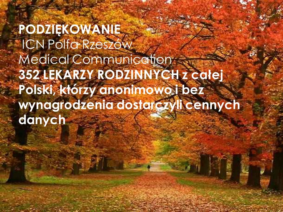 PODZIĘKOWANIE ICN Polfa Rzeszów. Medical Communication.