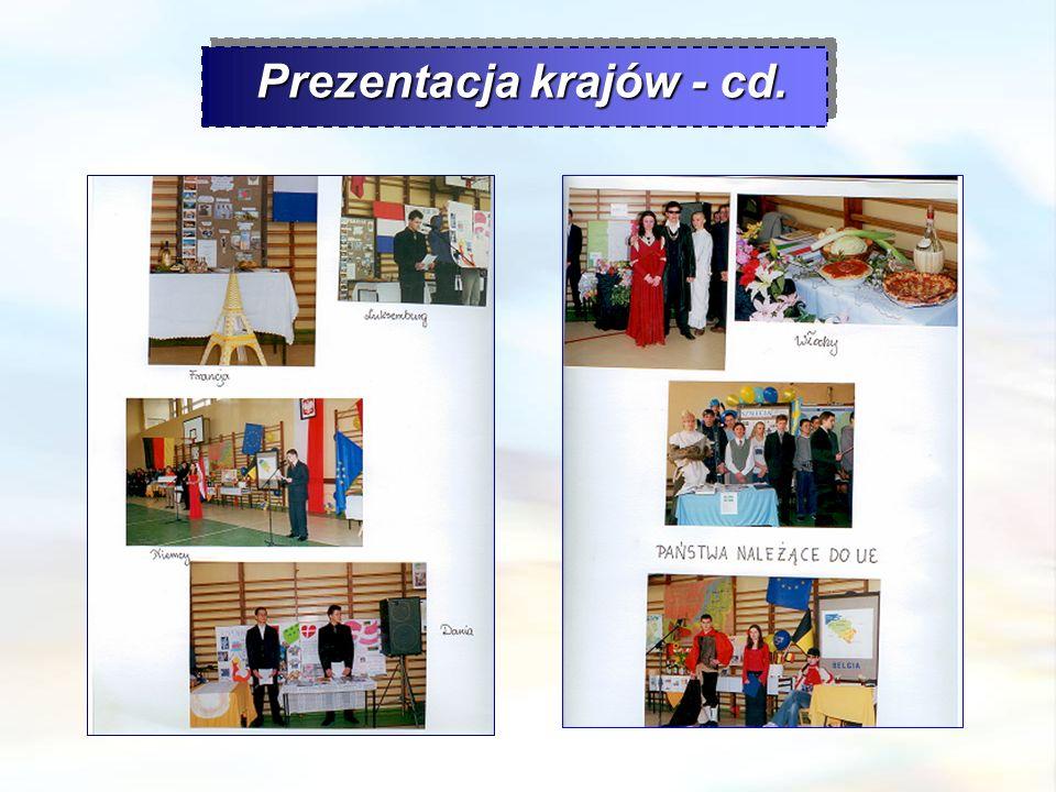 Prezentacja krajów - cd.
