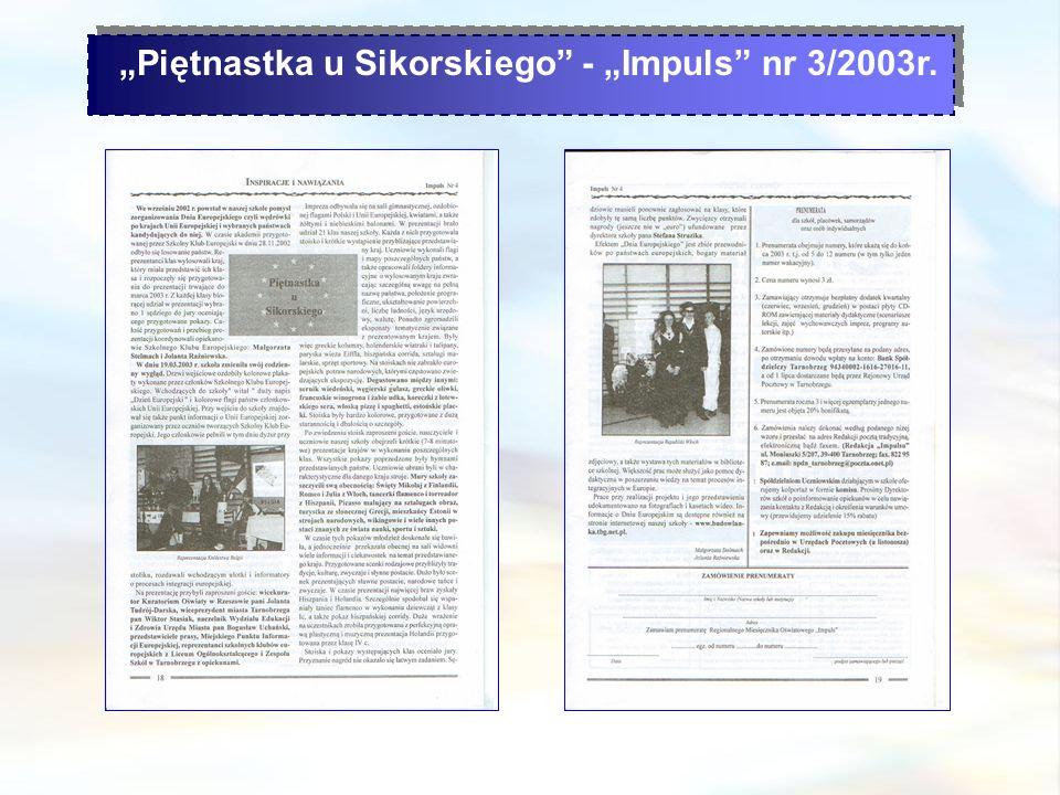 """Piętnastka u Sikorskiego - ""Impuls nr 3/2003r."