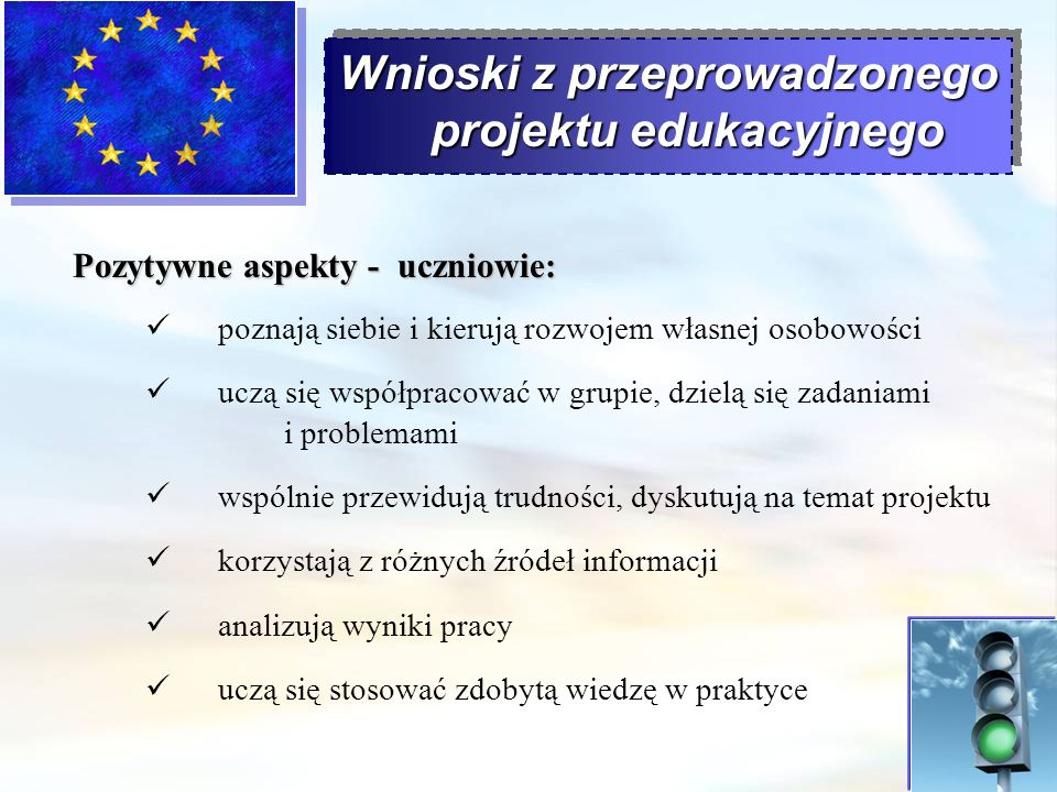 Wnioski z przeprowadzonego projektu edukacyjnego