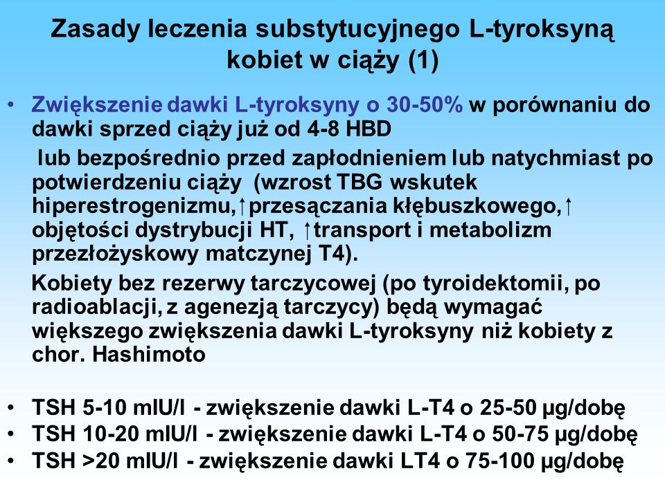 Zasady leczenia substytucyjnego L-tyroksyną kobiet w ciąży (1)