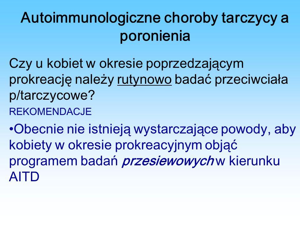 Autoimmunologiczne choroby tarczycy a poronienia