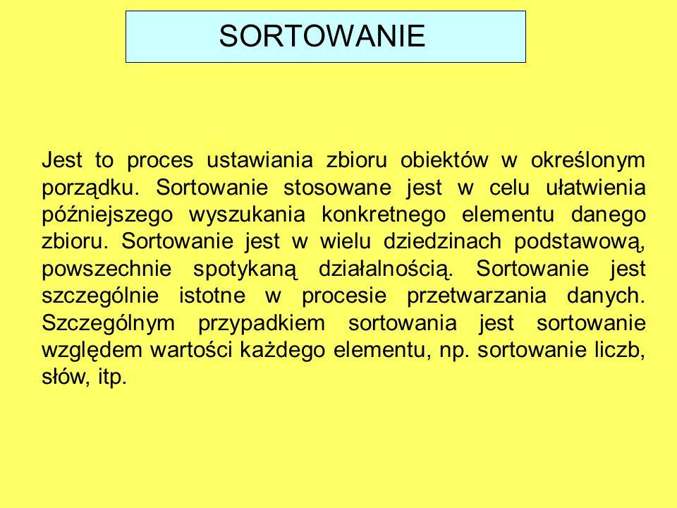 SORTOWANIE