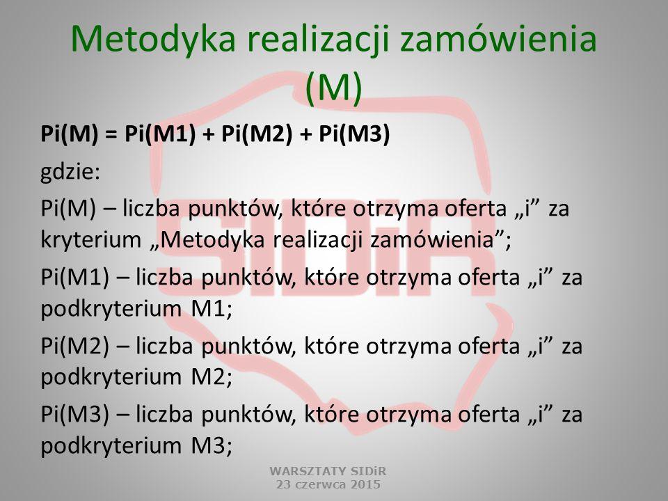 Metodyka realizacji zamówienia (M)