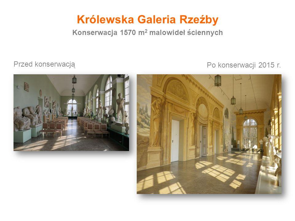 Królewska Galeria Rzeźby Konserwacja 1570 m2 malowideł ściennych