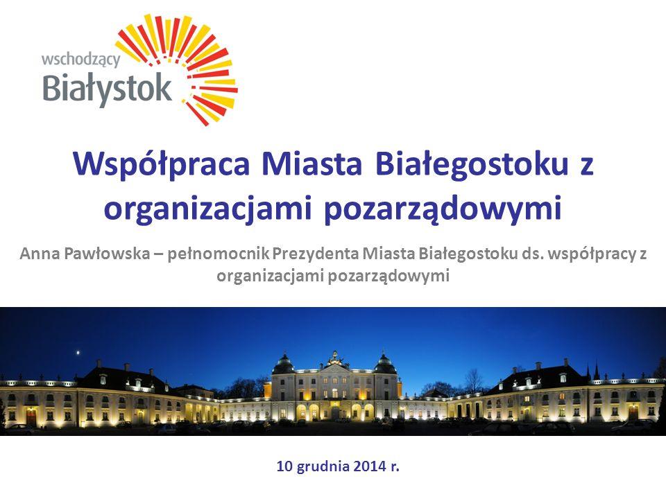 Współpraca Miasta Białegostoku z organizacjami pozarządowymi