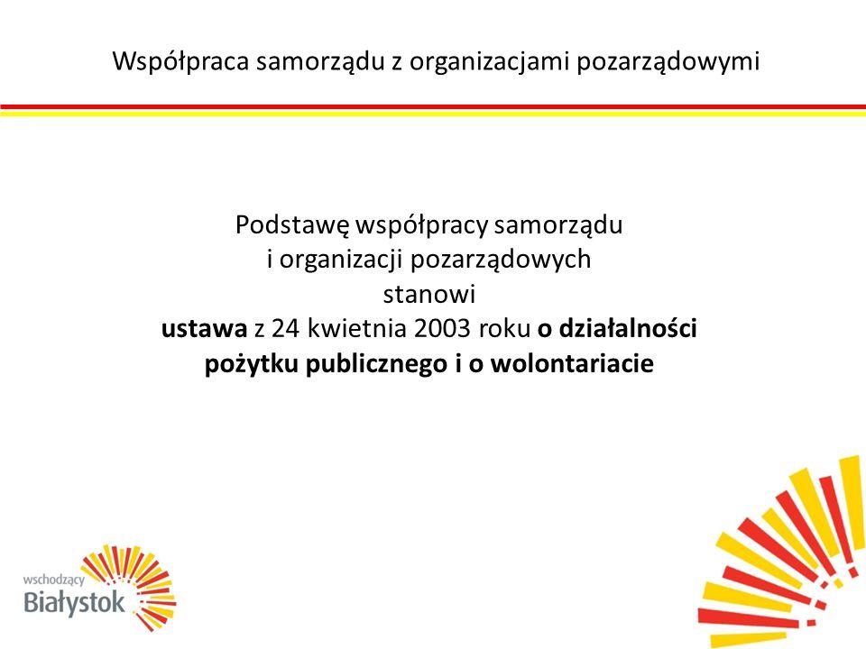 Współpraca samorządu z organizacjami pozarządowymi