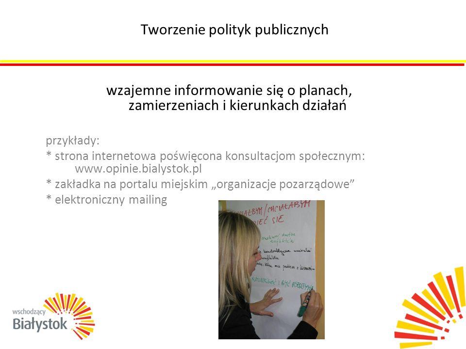 Tworzenie polityk publicznych