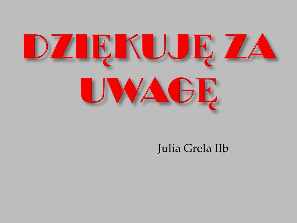 DZIĘKUJĘ ZA UWAGĘ Julia Grela IIb