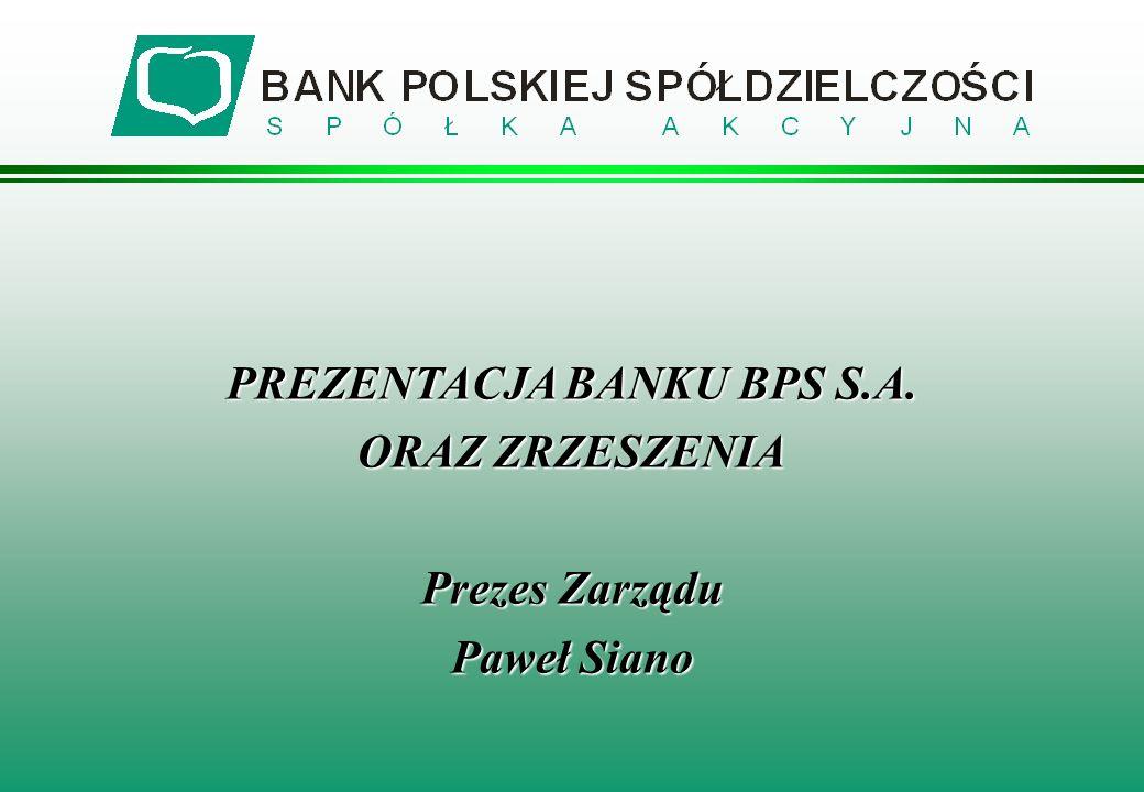 PREZENTACJA BANKU BPS S.A.