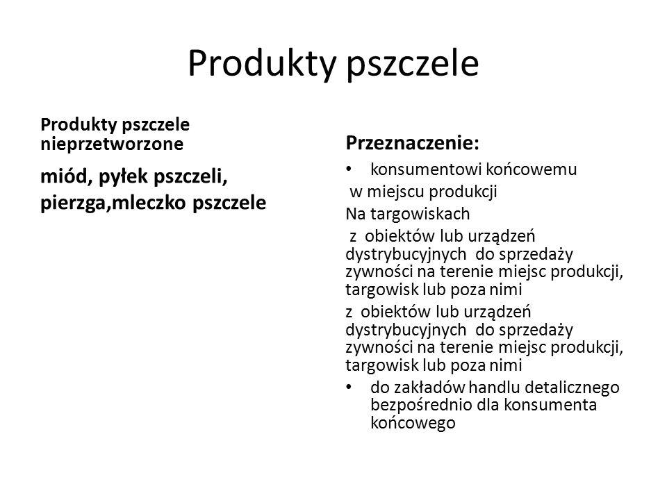 Produkty pszczele Przeznaczenie: