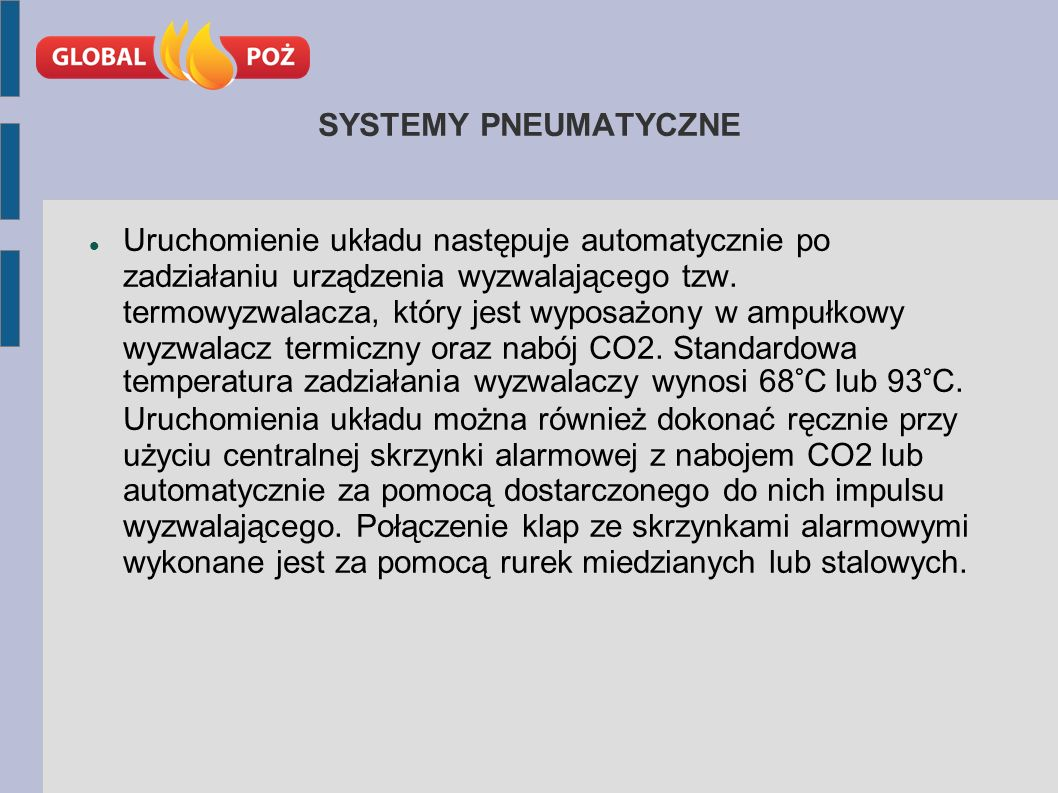 SYSTEMY PNEUMATYCZNE