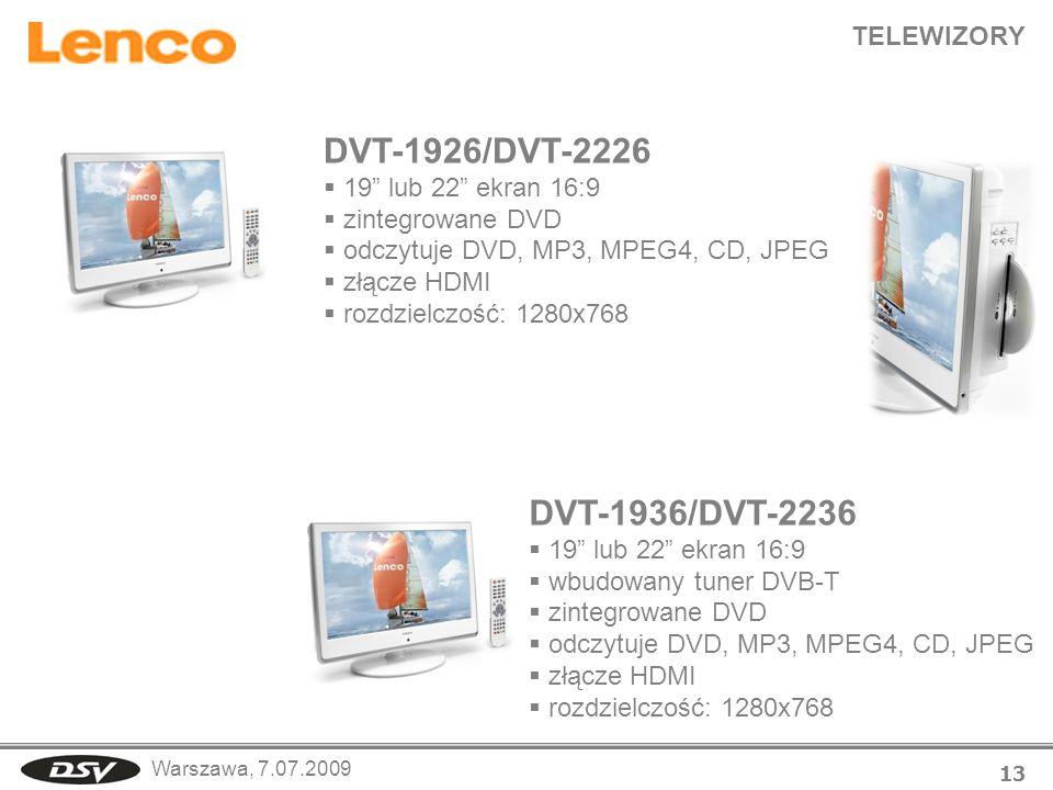DVT-1926/DVT-2226 DVT-1936/DVT-2236 TELEWIZORY 19 lub 22 ekran 16:9