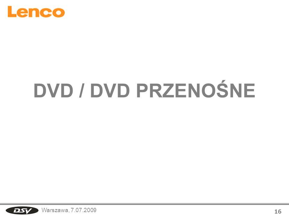 DVD / DVD PRZENOŚNE