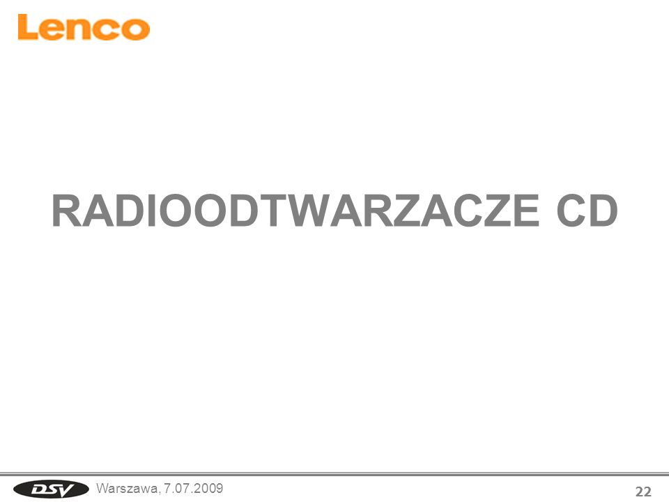 RADIOODTWARZACZE CD