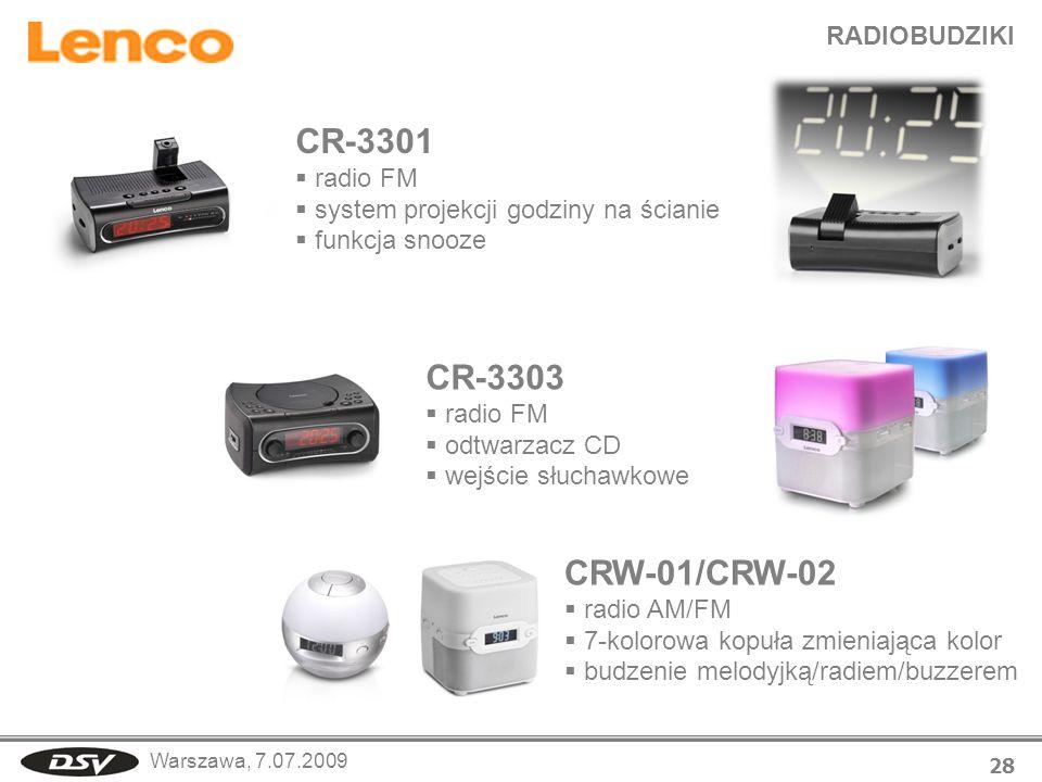 CR-3301 CR-3303 CRW-01/CRW-02 RADIOBUDZIKI radio FM